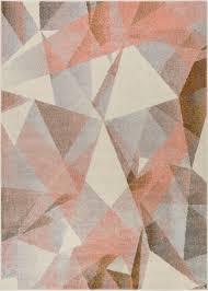 geometric rug pattern. Barra Dusty Pink Multi Modern Geometric Rug Pattern G