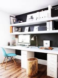 Floating shelf desk Bedroom Simple Floating Shelves Over The Desks Shelterness 29 Creative Home Office Wall Storage Ideas Shelterness