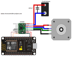nodemcu esp8266 12 e controlling stepper motor over wifi