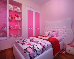 Endearing Hello Kitty Headboard Vibrant Pink Bedroom With Hello Kitty  Themes Also Customized