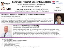 randwick precinct cancer roundtable oncofertility 1 may 2018