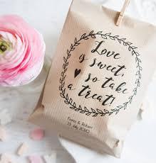 10 'Love Is Sweet' Personalised Paper Goodie Bags