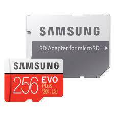 Thẻ Nhớ Micro SD Samsung Evo Plus 256GB U3 Class 10 - 100MB/s (Kèm Adapter)  - Hàng Chính Hãng - QUEEN MOBILE