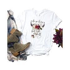 Anbech Womens Do No Harm But Take No Bull Shirt Summer Short Sleeve Casual Blouse Tees