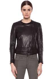 image 2 of rag bone clare lambskin leather jacket in black