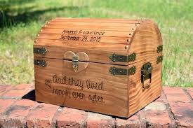 wooden card box wood with slot and they lived happily ever after