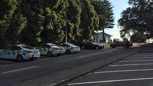 a number police cars were at a south auckland beach where a was found on