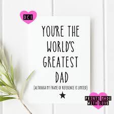Funny Fathers Day Card Dad Birthday Card Blank Inside