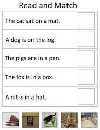 Individual sounds of each of word (oral segmenting).for example cat is /c/ /a/ /t/. Cvc Words Read And Match By Mrs Browns Busy Classroom Tpt