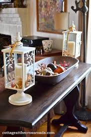 Concept Sofa Table Decor With Lanterns And Dough Tray L In