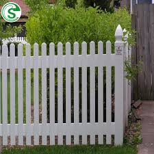 decorative garden fence white