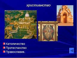 География религий мира презентация к уроку Географии христианство Католичество Протестанство Православие