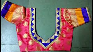 Different Types Of Blouse Back Neck Designs 2016 Patch Work Blouse Designs And Patterns Back Side Blouse Patterns Back Neck Designs