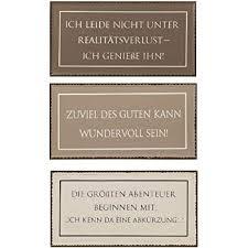 Amazonde 3er Set Metall Wandbilder 40x20 Cm Schilder Lustige