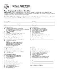 New Employee Orientation Checklist Template Background