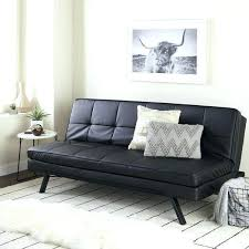 leather futon sofa bed beds faux modern costco red