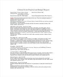 Program Of Events Sample 10 Event Proposal Example Fax Coversheet