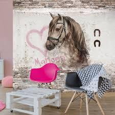 Behang Paard Met Eigen Naam In 2019 Kinderbehang Paarden
