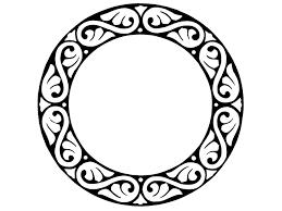 mirror frame outline. Circle Mirror Frame Outline H
