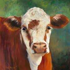reion painting pearl iv cow painting by cheri wollenberg