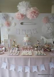 17. Baby Pink and #White - 27 Super Cute Baby #Shower Decorations ...