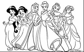Cinderella Coloring Pages New Princess Color For Kids Unique