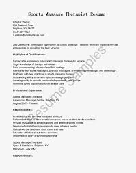 Massage Therapist Resume Gallery Of Massage Therapist Resume Examples 87