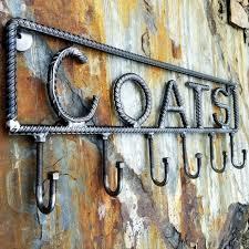 Rebar Coat Rack Farmersmetalsetsy Rustic industrial coat rack Rebar coat rack 2