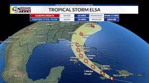 Tropical Storm Elsa's Path: Latest ...