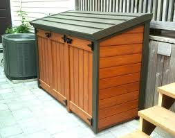 decorative patio trash cans outdoor stunning can free plan shed plans home sweet outd