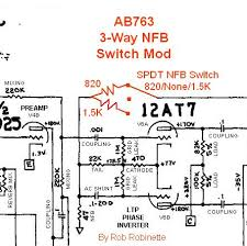 ab763 mods the nfb switch fundamentally changes the clean and overdrive tone of the amp playability and touch sensitivity are also changed in all three positions