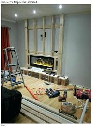 electric fireplace insert installation turning a boring wall into a fireplace electric electric fireplace inserts costco