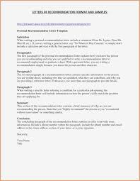 Personal Letter Of Recommendation Format Free Letter Of Recommendation Template Elim