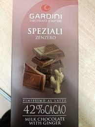 GARDINI – Tavoletta cioccolato latte con zenzero gr.80 – Zanieri Dolciumi
