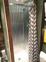 corrugated metal shower galvanized roofing lining the walls is amazing walk in sheet m galvanized shower walls sheet metal