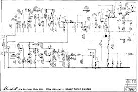 marshall schematics pre amp schematic 6x ecc83 issue 2 marshall 1981