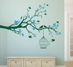 wall art decor ideas tree branch removable stickers bird