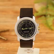 fastrack black strap watch for men