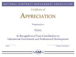 Images For Formal Certificate Of Appreciation Template Mpusibki