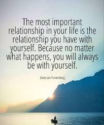 Relationship With Yourself Quotes Best of The Most Important Relationship In Your Life Is The Relationship You