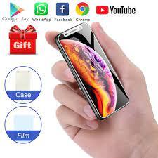 Cep akıllı telefon Melrose 2019 3.4 inç küçük ekran dört çekirdekli Android  8.1 parmak izi Mini öğrenci cep telefonu oyun mağazası|Cellphones