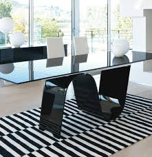 unico contemporary rectangular infinity extending glass dining table view 1