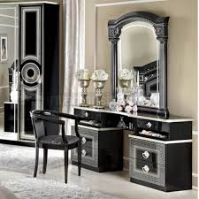 black and silver bedroom furniture. aida classic italian dressing table black u0026 silver on sale now and bedroom furniture o