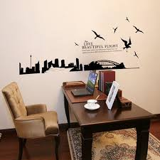 big city silhouette of sydney bridge decal vinyl wall stickers pvc