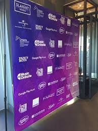 Sponsor Backdrop Design Event Banner Wall Sponsor Wall Women In Music Canada