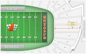 Cincinnati Bengals Paul Brown Stadium Seating Chart