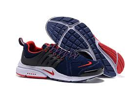 autumn winter mns wmns nike presto leather low top running casual sports shoes dark blue red