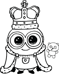 This coloring page for printing show a despicable me minion standing. Minion Bob Coloring Pages Coloring Home