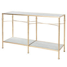 gold console table. Grauman Hollywood Regency Classic Gold Marble Console Table   Kathy Kuo Home