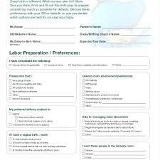 Different Birth Plan Options Birth Plan Print Out Vbhotels Co